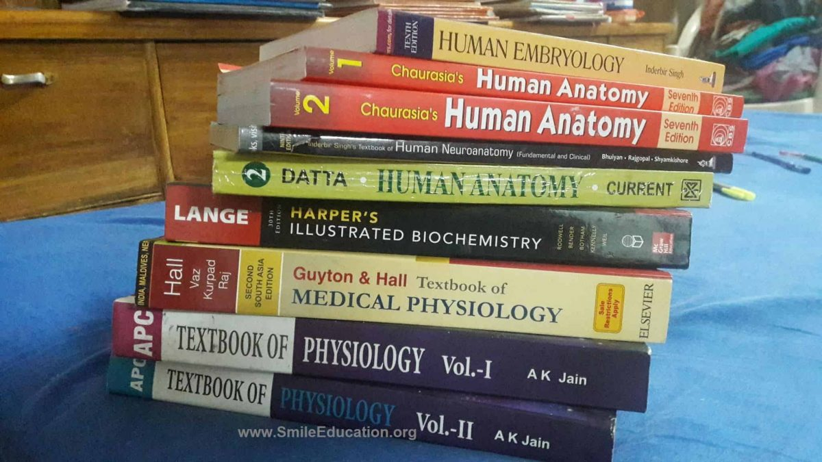 First Year MBBS in Bangladesh Medical Books Lists
